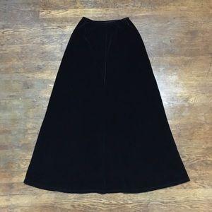 BCBGMaxAzria Black/Very Dark Brown Velvet Skirt